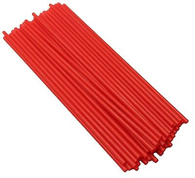 500 x Red Straight Straws Disposable Drinking Straw Plastic Slushee Party Favor