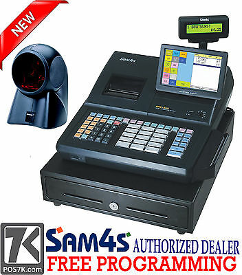 "SAM4S SPS-530 RT 7"" Touch Screen Cash Register with Orbital Scanner"