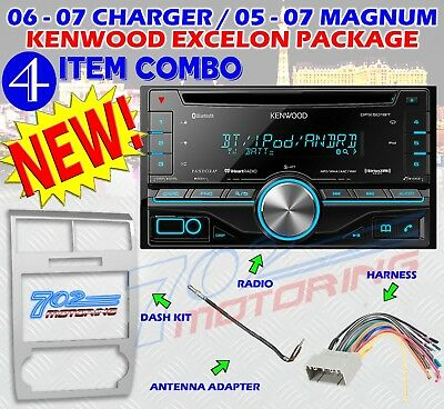 Kenwood Dpx501Bt Silver Magnum Charger Radio Stereo Car Install Dash 2 Din Pkg