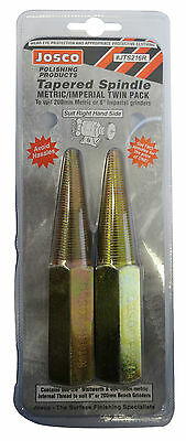 """Josco Metal Polishing Tapered Spindle 2pk - 16mm & 5/8"""" Right Hand Bench Grinder"""