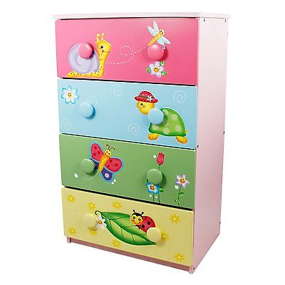 Fantasy Fields by Teamson Magic Garden 4 Drawer 8 Handle Chest