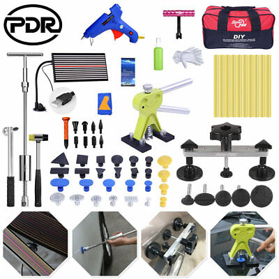 68pc Paintless Dent Removal Lifter Hail Puller PDR Tools Kit Slide Hammer Repair