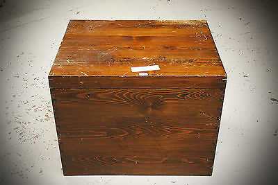 Antique 19th Century Silver Pine Chest Trunk
