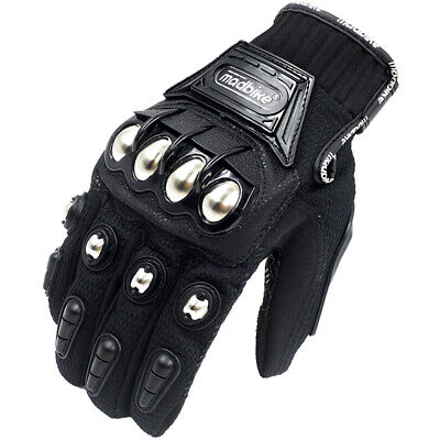 Autumn Hot Metal Knuckle Mad Racing Motorbike Motorcycle Armour Gloves Black New