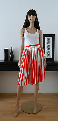 jupe vintage 80s CHAUS rayures blanc/rouge taille 34