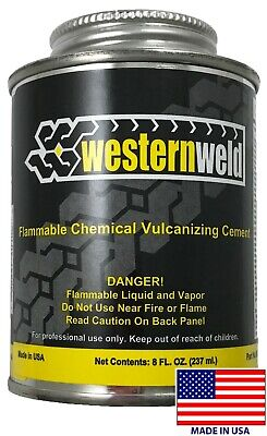 TR540 Tire Seal Brand Chemical Vulcanizing Cement, 8 oz -Made in the USA, 6 PACK