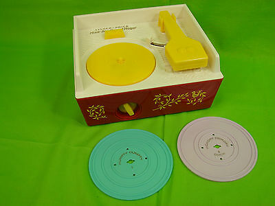 Vintage Fisher Price Music Box Record Player With 2 Records, 2010