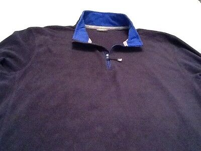 Men's 2Xl Nordictrack Fleece Navy & Royal Blue Warm Up Jacket New With Tags