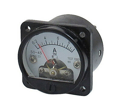 Class 2.5 Accuracy AC 0-10A Round Analog Panel Meter Ammeter Black SO-45