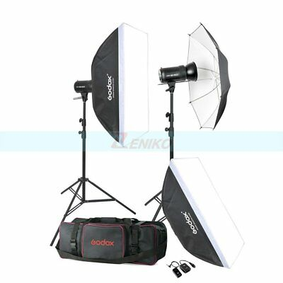 Godox 2X SK300 Studio Flash Light + Softbox + Light Stand + Trigger + Bag Kit
