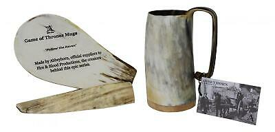 Unique Handcrafted Medium Ox Horn Tankard Soldiers Mead Mug Cup - 2 Finishes