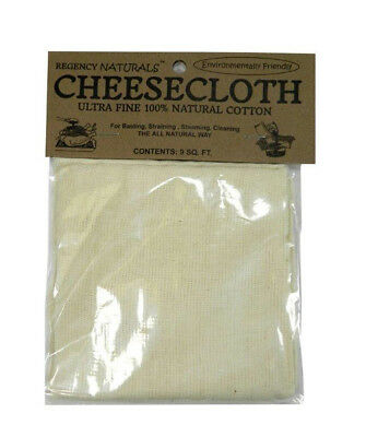 Regency Natural 100% Cotton Ultra Fine Gourmet Cheesecloth Cheese Cloth Strain