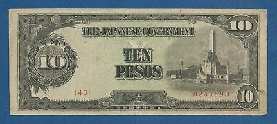 JAPON // JAPAN -- OCCUPATION PHILIPPINES -- 10 PESOS ND ( 1943 ) -- VF - P. 111a