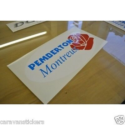 PEMBERTON Montreux - (STYLE 2)(OVAL) - Caravan Sticker Decal Graphic - SINGLE