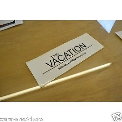 WILLERBY Vacation Holiday Home Caravan Sticker Decal Graphic - SINGLE