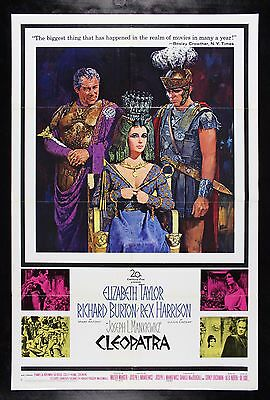 CLEOPATRA * CineMasterpieces 1963 MOVIE POSTER EGYPT ELIZABETH LIZ TAYLOR
