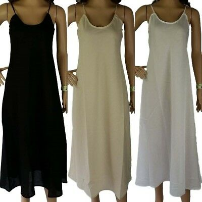 100% COTTON SLIP Long NEW LAYERING Dress Petticoat Size 12 14 16 18 20 Quality