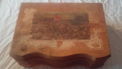 Antique Reuge 2x22 Reuge Music Box With Hunting Scene
