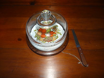Goodwood Cheese Tray with Glass Cover and Knive