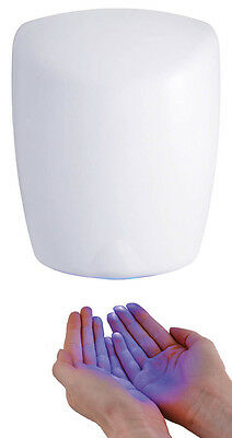 White Hand Dryer Fast Air Force Electric Automatic Hot Air Drier Auto Dryers
