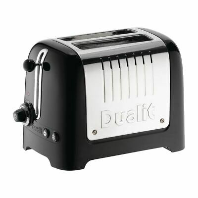 Dualit 2 Slice Lite Toaster Black 200x170x270mm Sandwich Catering Kitchen 26205