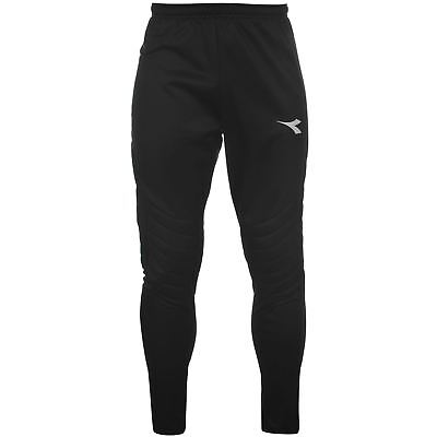 Diadora Goalkeeper Trousers Black Mens Football Soccer GK Pants-