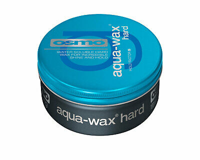 Osmo Aqua-Wax Hard 100ml Mens Hair Styling Grooming Barbers Strong Hold