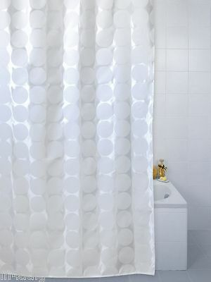 White Sphere Polyester Shower Curtain 180 X 180cm OR 180 X 200cm