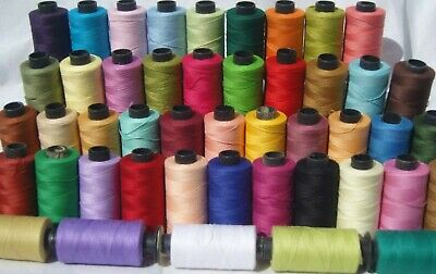 20 x Large 100% COTTON SEWING THREAD SPOOLS, 400 Yards Each, 20 Nice Colors