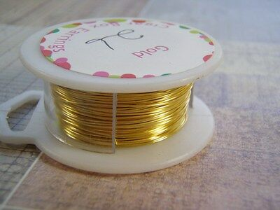 Gold Plated Wire Round Dead Soft Copper Core 18 to 28 Gauge Non Tarnish