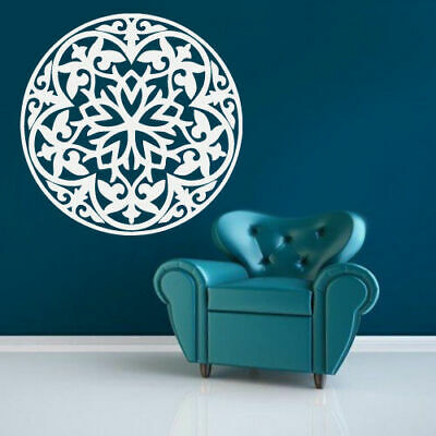Wall Decal Vinyl Sticker Mandala Mehndi Ornament Om Indian Hindu decor (Z2812)