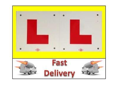 2 L Plates Motorcycle Scooter Car Lorry Van 2 X New Hard Shater Proof Plastic