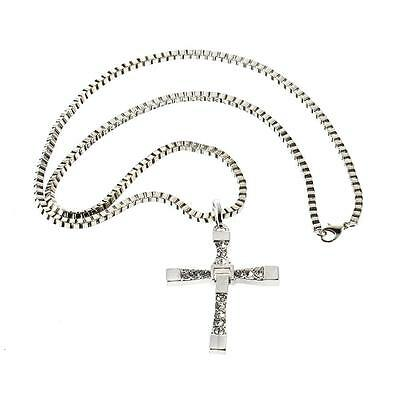 Collier Fast and Furious 8 Pendentif + Chaine Croix  Vin Diesel Dominic Toretto