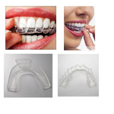 4 x MOUTH TRAYS FOR TEETH WHITENING / GEL BLEACH, THERMOFORMING GUM SHIELD