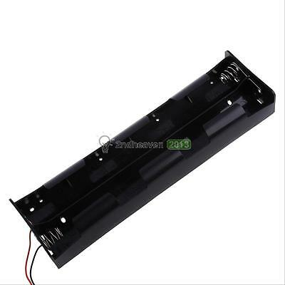 New 12V Battery Power Case Holder Open Wire 8 Section D Size Batteries Cell Box