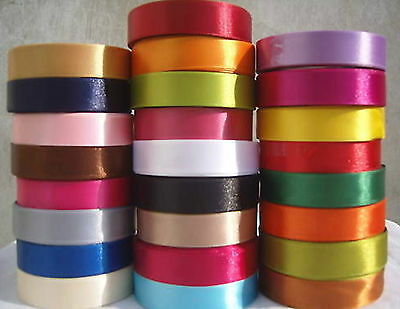 Satin Ribbon Size 20mm, 25 Yards Rolls Choose from Colours BUY 4 & GET 1 Free