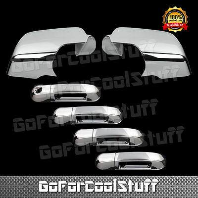 For Ford Explorer 06-10 Chrome Mirror Cover & Door Handle Cover W/O Pskh