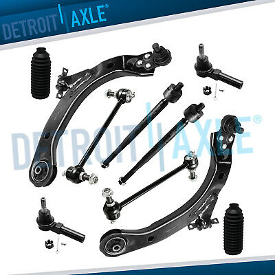 10pc Front Lower Control Arm Ball Joint Tierod 05-10 Chevy Cobalt HHR Pontiac G5