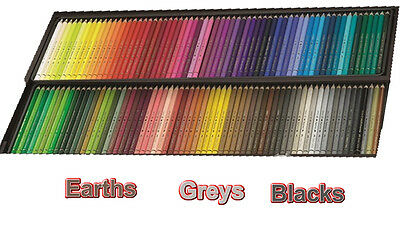 Polychromos Artists' colour pencils - earths, greys and blacks