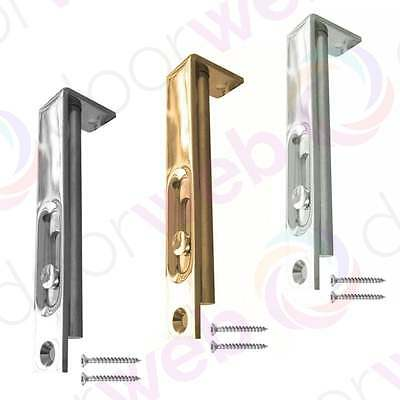 Jedo SLIDE ACTION FLUSH BOLT Slide Swing French Double Door Lock CHROME BRASS