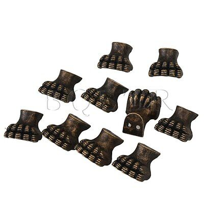 10pcs Antique Corner Protector for Wooden Box Elephant Foot Type