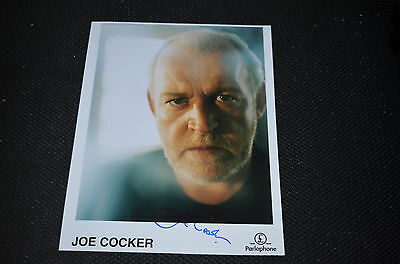 JOE COCKER  signed Autogramm  In Person 20x25 cm