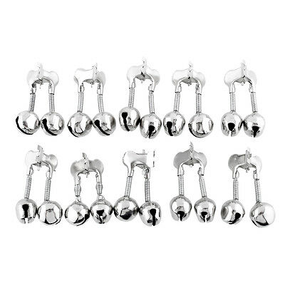 10Pcs 15mm Clip Twin Double Bells Bite Alarm for Fishing Accessory New