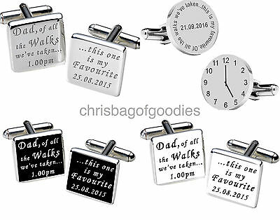 PERSONALISED WEDDING FATHER OF THE BRIDE CUFFLINKS Cuff Links Gifts FOR my DAD