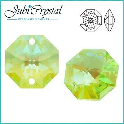 2 PC SWAROVSKI ELEMENTS 8116 Octagon 14mm 2 hole -  All Colours &Effect