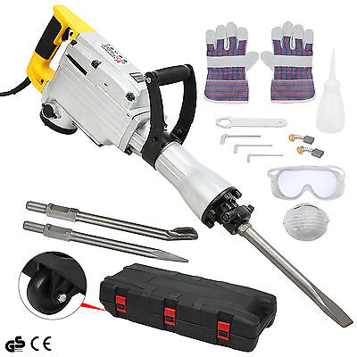 New 1700W Electric Demolition Hammer Drill Concrete Breaker Jackhammer Powertool
