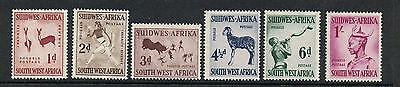 STAMPS  from SOUTH WEST AFRICA (MINT HINGED/ MLH)1954  ANIMAL Part Set lot A50