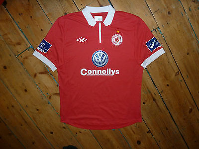LARGE + Sligo Rovers Football Shirt + League of Ireland UMBRO SSE AITRICITY PATH