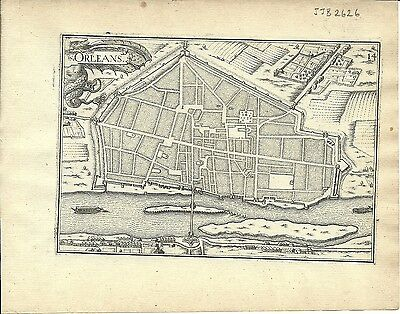 Antique map, Orleans