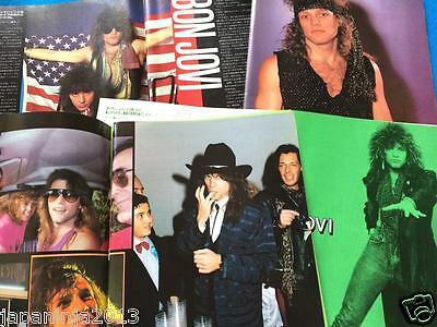 Bon Jovi Clippings and Poster from Japan Music Magazines